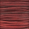 3mm round Indian leather - red - 25m SPOOL