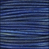 3mm round Indian leather - blue - 25m SPOOL