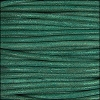 2mm round Indian leather - turquoise natural dye - per 25m SPOOL