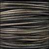 3mm round Indian leather - grey brown natural dye - 25m SPOOL