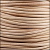 3mm round Indian leather - NATURAL - 25m SPOOL