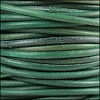 3mm round Indian leather - turquoise - 25m SPOOL