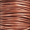 1.5mm round Indian leather - METALLIC copper - per 25m SPOOL