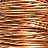 1.5mm round Indian leather - METALLIC bronze - per 25m SPOOL