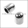 5 or 6mm round end caps SILVER - per 10 pieces