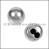 4mm round SPHERE TWO-STRAND end cap ANT SILVER - per 10 pieces
