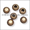 2mm round ball end caps ANT BRASS - per 150 pieces