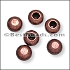 2mm round ball end caps ANT COPPER - per 150 pieces