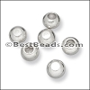 2mm round ball end caps SILVER - per 150 pieces