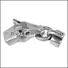 5mm round HORSE AND BIT connector clasp ANT SILVER - per 5 pieces