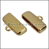 15mm flat ROUNDED loop end GOLD - per 10 pieces