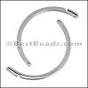 1mm round THIN HOOK cuff ANT SILVER - per 5 pieces