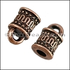 3mm round MOROCCAN loop end ANT COPPER - per 10 pieces