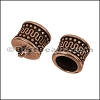 8mm round MOROCCAN loop end ANT COPPER - 10 pcs