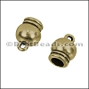 5mm round SPHERICAL loop end ANT BRASS - per 10 pieces