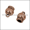 5mm round SPHERICAL loop end ANT COPPER - per 10 pieces