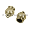 6mm round SPHERICAL loop end ANT BRASS - 10 pcs