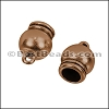 6mm round SPHERICAL loop end ANT COPPER - per 10 pieces