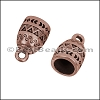 6mm round PATTERNED loop end ANT COPPER - 10 pcs