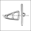 SMALL TRIANGLE TOGGLE clasp ANTIQUE SILVER - per 10 clasps