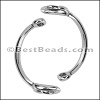 10mm flat HALF BRACELET STIRRUP clasp ANTIQUE SILVER - per piece
