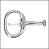 10mm flat ART HALF BRACELET clasp ANTIQUE SILVER - per piece