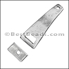 2mm RECTANGLE Toggle Clasp ANTIQUE SILVER - per 10 clasps