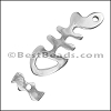 2mm BONEFISH Toggle Clasp ANTIQUE SILVER - per 10 clasps