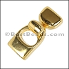 10mm flat KEY HOLE clasp GOLD - 10 clasps