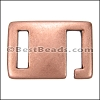10mm flat SQUARE HOOK clasp ANT COPPER - per 10 pieces