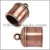 10mm round BELL clasp ANT COPPER - 10 pcs