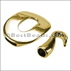 2mm round BUCKLE & HOOK clasp GOLD - per 10 clasps