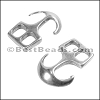 Multi ANCHOR HOOK clasp ANT SILVER - per 10 pieces