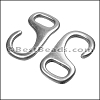Multi J HOOK connector clasp ANT SILVER - per 10 pieces