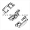 Multi Round DOCK CLEAT connector ANT SILVER - per 10 pieces
