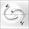 5mm round CUFF CRYSTAL clasp ANT SILVER per bag of 5 pieces