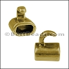 5mm round TWO TONE HOOK clasp ANTIQUE BRASS- per 10 clasps