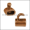 5mm round TWO TONE HOOK clasp ANTIQUE COPPER- per 10 clasps