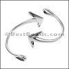 Multi Round ANCHOR CUFF clasp ANT SILVER - per 3 pieces