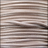 3mm round Euro leather METALLIC NUDE - 25m SPOOL