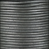 1.5mm round Indian leather - silver METALLIC - per 25m SPOOL