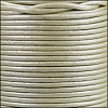 1.5mm round Indian leather - pale cream metallic - per 25m SPOOL