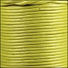 1.5mm round Indian leather - yellow metallic - per 25m SPOOL