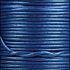 1.5mm round Indian leather - sapphire metallic - per 25m SPOOL