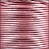 1.5mm round Indian leather - pink metallic - per 25m SPOOL