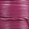 1.5mm round Indian leather - mulberry - per 25m SPOOL