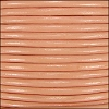 2mm round Indian leather - peach - per 25m SPOOL