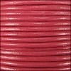 2mm round Indian leather - pink - per 25m SPOOL