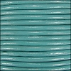 2mm round Indian leather - lt turquoise - per 25m SPOOL