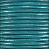 2mm round Indian leather - turquoise - per 25m SPOOL
